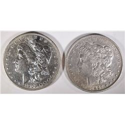 1897-O XF & 1903 AU MORGAN DOLLARS