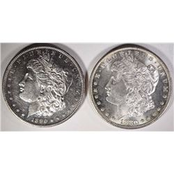 1880-S & 1890-S MORGAN DOLLARS BU