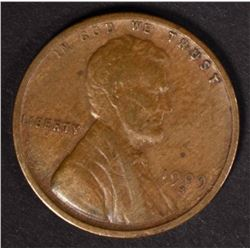 1909-S LINCOLN CENT NICE VF