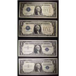"CURRENCY: 1928 A $1.00 ""FUNNYBACK"" VF-XF 2 NOTES;"