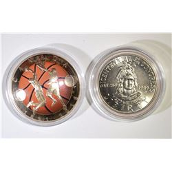 2016 $25.00 SILVER 125TH ANNIV. BASKETBALL