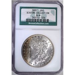 1887 MORGAN DOLLAR NGC 64*