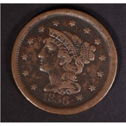1856 LARGE CENT VF