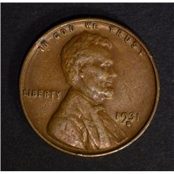 1931-S LINCOLN CENT, XF BETTER DATE