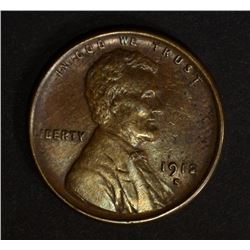 1912-S LINCOLN CENT, XF+