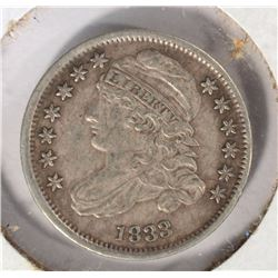 1833 BUST DIME, FULL XF scratch ORIGINAL & NICE
