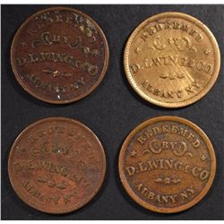 4 - CIVIL WAR TOKENS ALBANY, N.Y.