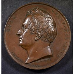 DENMARK BRONZE MEDAL 1850, HIGH RELIEF