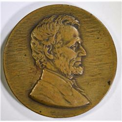 VINTAGE BRONZE LINCOLN DAY MEDAL