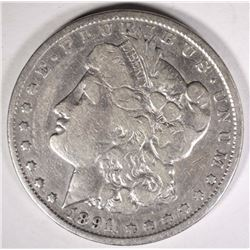 1891-CC MORGAN DOLLAR FINE CLEANED