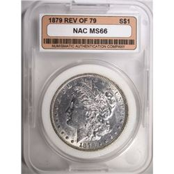 1879 MORGAN DOLLAR NAC GEM BU