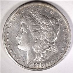 1878 7TF REV. OF 79 MORGAN DOLLAR XF CLEANED