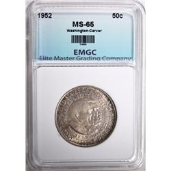 1952 WASHINGTON-CARVER HALF DOLLAR EMGC GEM BU