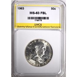 1963 FRANKLIN HALF DOLLAR LVCS CHOICE BU FBL