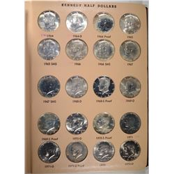 KENNEDY HALF DOLLAR SET WITH 84 DIFFERENT
