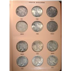 VERY NICE PEACE DOLLAR SET COMPLETE--