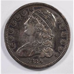 1834 CAPPED BUST QUARTER, VF heavy scratches obv