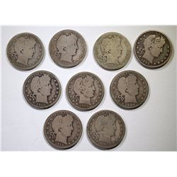 9 - BARBER QUARTERS with DATES NICE CIRC