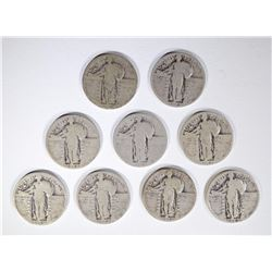 9 - STANDING LIBERTY QUARTERS with DATES