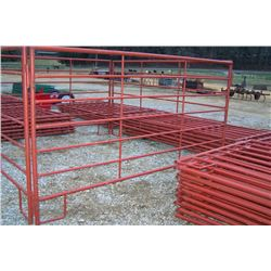 12' HEAVY DUTY RED CORRAL PANELS (10)