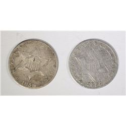 1854 G/VG & 1856 F 3-CENT SILVERS