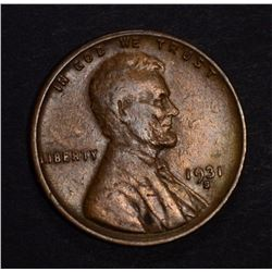 1931-S LINCOLN CENT, XF
