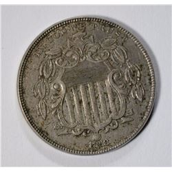 1868 SHIELD NICKEL, AU