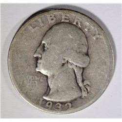 1932-S WASHINGTON QUARTER, FINE