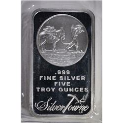 FIVE OUNCE .999 SILVER BAR SILVERTOWNE