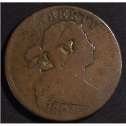 RARE! 1804 LARGE CENT GOOD, NICE CLEAR DATE,