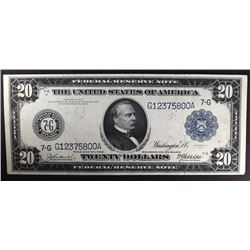 1914 $20 FEDERAL RESERVE NOTE XF