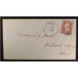 1866 LETTER w/STAMP & CONTENTS