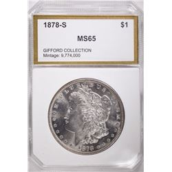 1878-S MORGAN DOLLAR PCI GEM BU