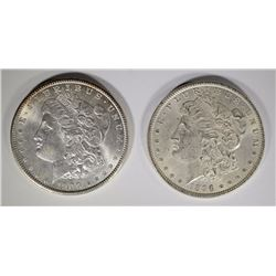 1896 & 1900 MORGAN DOLLARS BU