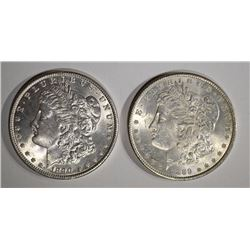 1889 & 1890 MORGAN DOLLARS BU