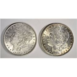 1890 & 1898 MORGAN DOLLARS BU