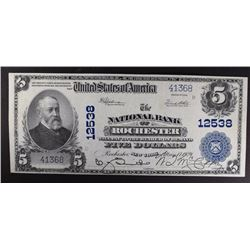 1902 $5 PB NATIONAL BANK OF ROCHESTER