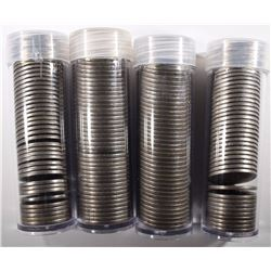 """4 ROLLS OF MIXED DATE CIRC LIBERTY """"V"""" NICKELS"""