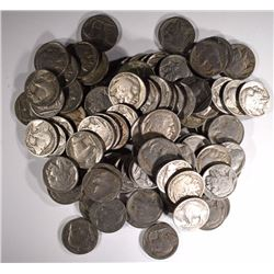 100 BUFFALO NICKELS, AVE CIRC