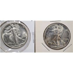 2-1943 WALKING LIBERTY HALF DOLLARS, GEM BU