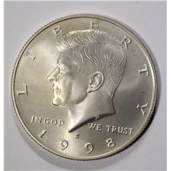 1998-S MATTE PROOF KENNEDY HALF DOLLAR, RARE
