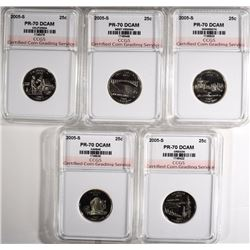 2005-S STATE QUARTER SET CCGS PERFECT GEM PF DCAM