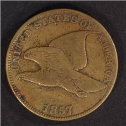 1857 FLYING EAGLE CENT FINE