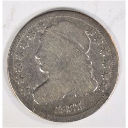 1837 CAPPED BUST DIME VG