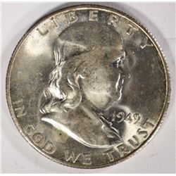 1949-S FRANKLIN HALF DOLLAR GEM BU