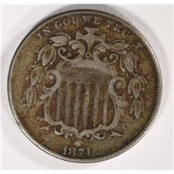 1874 SHIELD NICKEL VF/XF