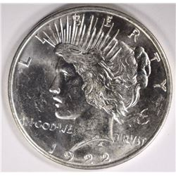 1922-D PEACE DOLLAR CHOICE BU++