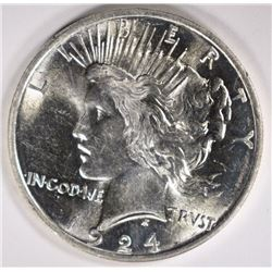 1924 PEACE DOLLAR GEM BU