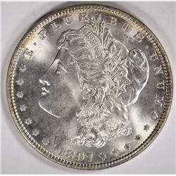 1897 MORGAN DOLLAR GEM BU
