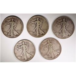 BETTER DATE WALKING LIBERTY HALF DOLLARS;